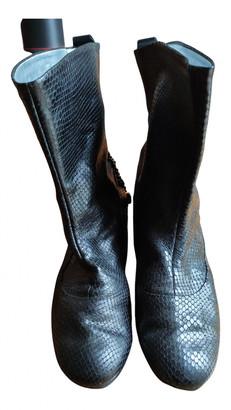 Giuseppe Zanotti Black Water snake Boots