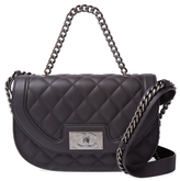 Chanel Vintage Grey Quilted Lambskin Saddle