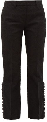 No.21 No. 21 - Flounced-cuff Lace Trousers - Womens - Black