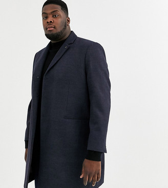 Burton Menswear Big & Tall coat in navy