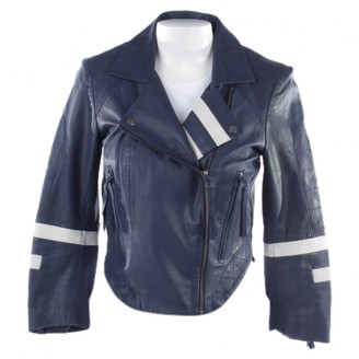 Preen Blue Leather Jackets