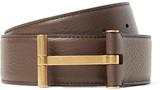Tom Ford 4cm Brown Full-Grain Leather Belt
