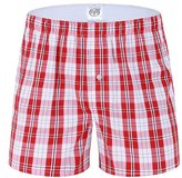 WSLCN Mens 100% Cotton Loose Boxer Shorts Underwear American Style Underpants Trunks