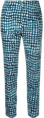 Paule Ka Geometric Print Trousers