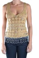 Galliano Women's Gold Wool Tank Top.