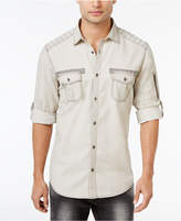 INC International Concepts Men's Top-Stitched Cotton Shirt, Created for Macy's