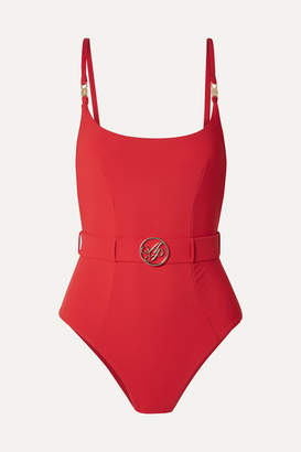 Agent Provocateur Laurella Belted Swimsuit - Red