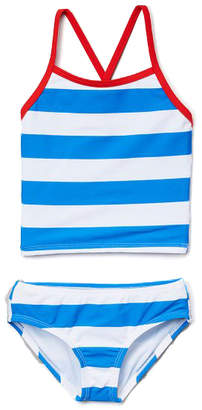 Kanu Surf Girls' Bikini Bottoms Blue - Blue & White Layla Tankini - Toddler