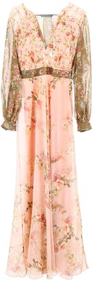 Alberta Ferretti Sheer Detailed Maxi Dress