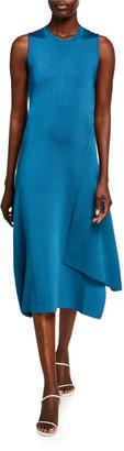 Victoria Beckham Silk Twisted-Back Dress
