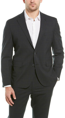 Cole Haan 2Pc Tailored Wool-Blend Suit With Flat Pant