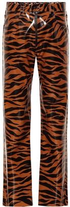 Kwaidan Editions Tiger-print vinyl pants