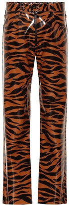 Kwaidan Editions Tiger-print vinyl pants