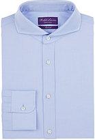 Ralph Lauren Purple Label Men's Keaton Parquet-Pattern Cotton Shirt-LIGHT BLUE