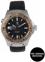 Tag Heuer Pre-Owned Aquaracer Calibre 5 Automatic Black Dial Bimetal Mens Watch Ref WAJ2150