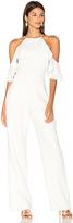 Karina Grimaldi Harper Linen Jumpsuit in Ivory