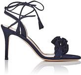 Gianvito Rossi Women's Flora Suede Ankle-Tie Sandals-NAVY