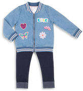 Little Lass Girls 2-6x Three-Piece Jacket Tee and Pants Set