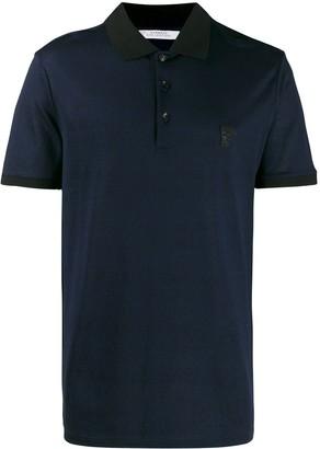 Versace All-Over Logo Print Polo Shirt