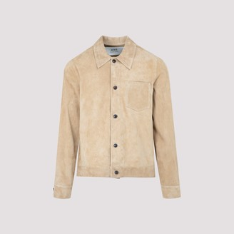 Ami Buttoned Suede Overshirt