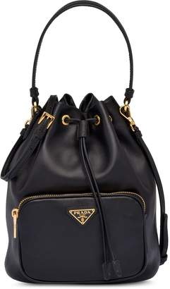 Prada leather bucket bag