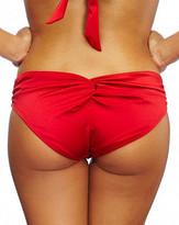 Nicolita Swimwear - Knotty By Day - Hipster Bikini Bottom Lipstick Red