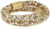 "Laundry by Shelli Segal Sunset Boulevard"" Crystal Mesh Crystal/Gold Wrap Bracelet"