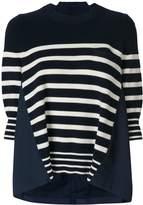 Sacai Oversized Breton Sweater