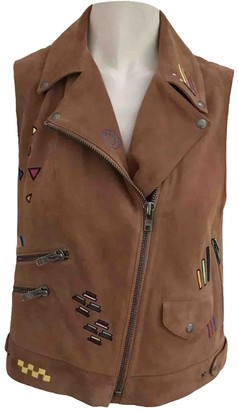 Mira Mikati Brown Suede Jacket for Women