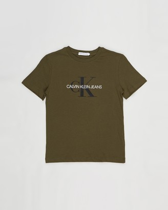 Calvin Klein Jeans Green Printed T-Shirts - Monogram Logo SS Tee - Kids-Teens - Size 10 YRS at The Iconic