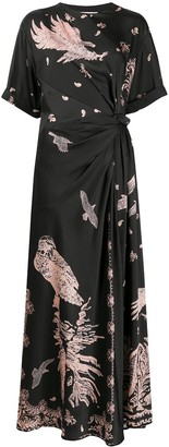 Cédric Charlier Eagle Print Dress
