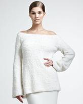 Donna Karan Wool/Cashmere Boucle Pullover