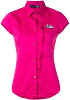 Love Moschino ruffle placket blouse