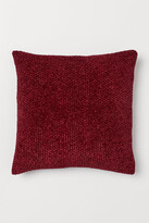 H&M Chenille Cushion Cover - Red