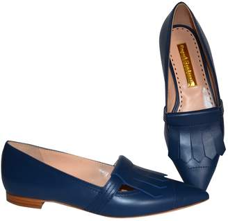 Rupert Sanderson Blue Leather Flats