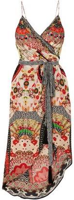 Camilla Asymmetric Crystal-embellished Printed Silk Crepe De Chine Wrap Dress