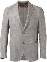 Corneliani patch pockets blazer - men - Linen/Flax/Virgin Wool/Viscose/Acetate - 48