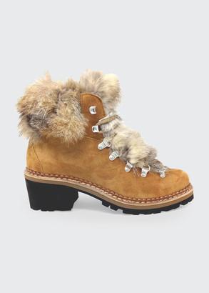 Montelliana 1965 Ninfea Suede Fox Hiker Boots