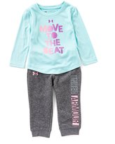 Under Armour Baby Girls 12-24 Months Move To The Beat Long-Sleeve Tee & Pant Set