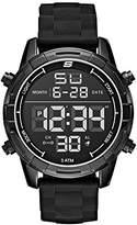 Skechers Men's 'Open Fashion Digi' Quartz Metal and Silicone Casual Watch, Color:Black (Model: SR5084)