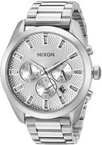 Nixon Women's A9311920 Bullet Chrono Analog Display Japanese Quartz Silver Watch