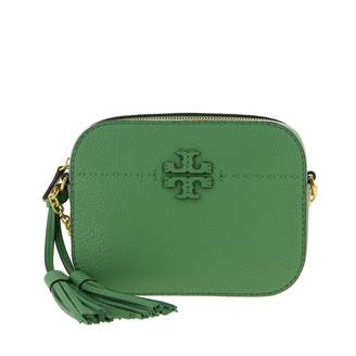 Tory Burch Shoulder Bag In Textured Leather With Emblem