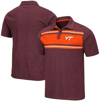 Colosseum Men's Maroon Virginia Tech Hokies Doppelganger Polo