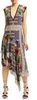 Nicole Miller Panama Scarf Asymmetric Dress