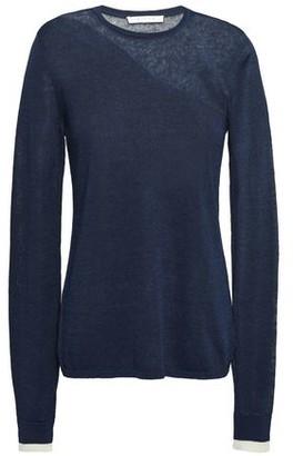 Duffy Burnout Linen-blend Sweater