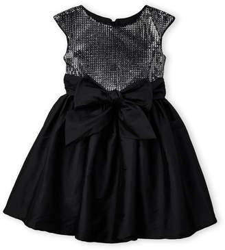 Pippa & Julie Girls 7-16) Sequin Bowtie A-Line Dress
