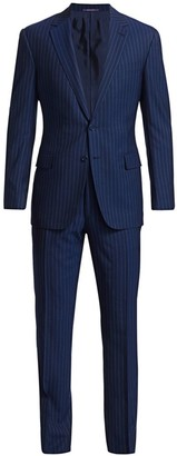 Ralph Lauren Purple Label Gregory Two-Button Pinstripe Wool Suit
