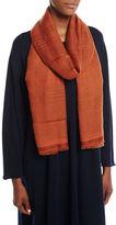 eskandar Two-Tone Open Weave Cashmere Scarf