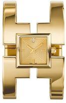 Tory Burch Sawyer Goldtone Stainless Steel Bangle Bracelet Watch