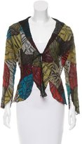 Roberto Cavalli Embellished Silk Top